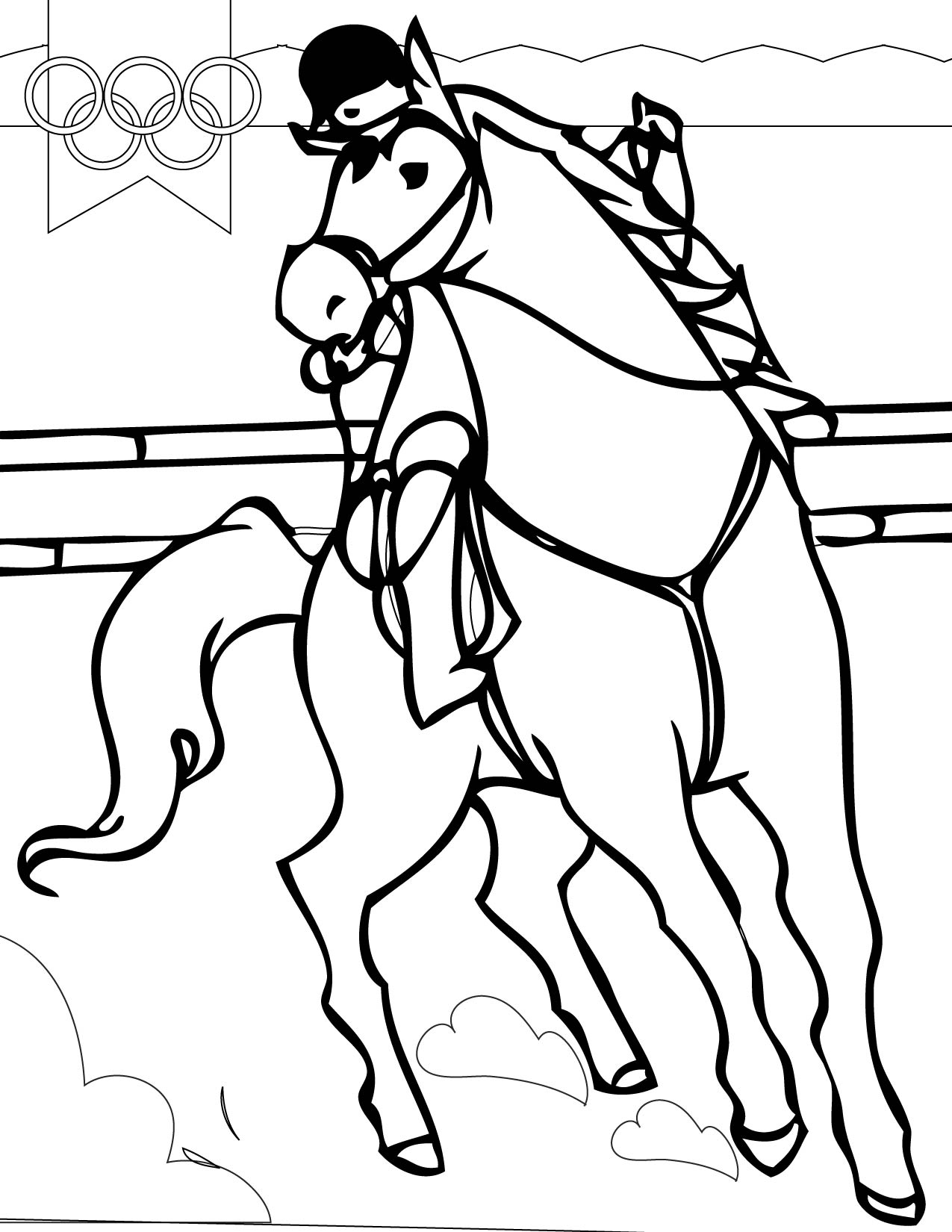 eventing coloring pages - photo#12