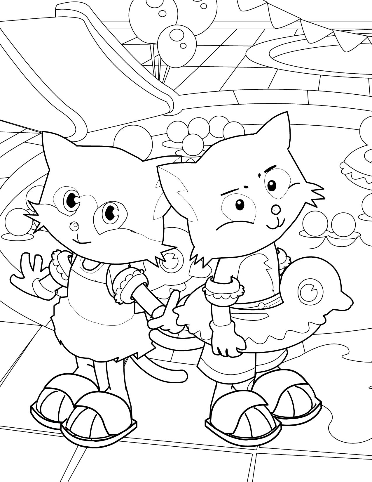 pool coloring page - handipoints coloring pages