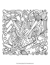 Back To School Coloring Pages Free Printable Pdf From Primarygames