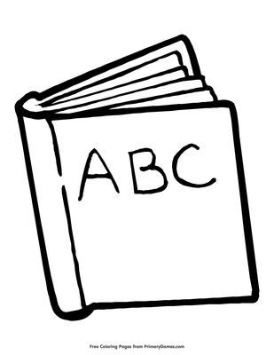 graphic regarding Printable Abc Book identified as ABC Reserve Coloring Web page Printable Again In the direction of College or university Coloring