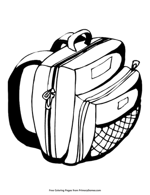 Backpack Coloring Page Printable Back To School Coloring Ebook - Backpack-coloring-pages