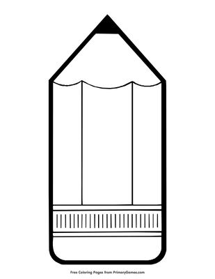 Pencil Coloring Page Free Printable Pdf From Primarygames