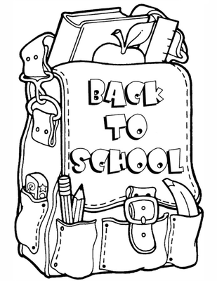 Back To School Backpack Coloring Page Printable Back To School - Backpack-coloring-pages