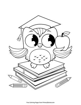 Wise Owl Coloring Page Free Printable Pdf From Primary