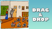 Back to School Drag & Drop Puzzle