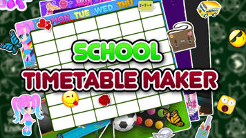 school timetable maker primarygames play free online games