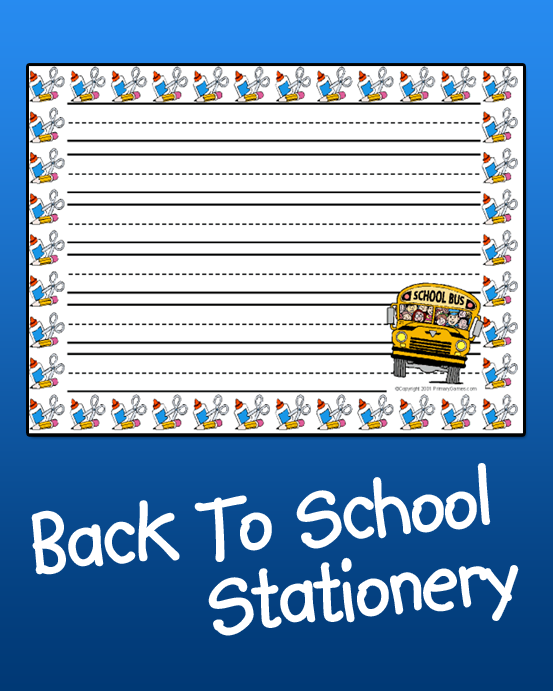 back to school stationery - primarygames