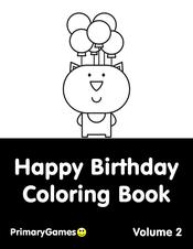 Happy Birthday Coloring Pages Printable Coloring Ebook Primarygames