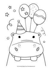 Happy Birthday Coloring Pages Free Printable Pdf From