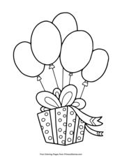Coloring Pages Balloons Balloon Coloring Page Balloons For Kids ... | 226x175