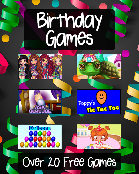 Birthday Games Free Online Games At Primarygames
