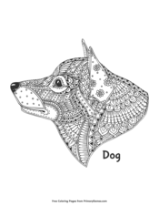 Zentangle Dog Head