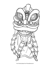 Chinese New Year Coloring Pages EBook Zodiac Boar