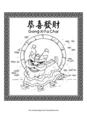 Lion Dance Gong Xi Fa Chai