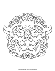 Chinese Lion Head