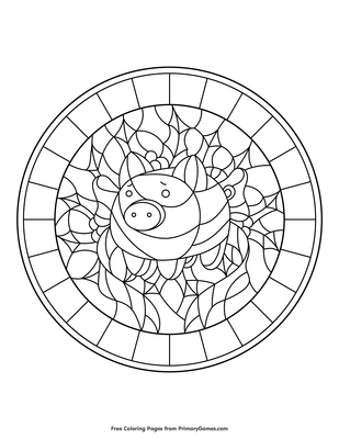 Bible Coloring Pages - Stained Glass Mother Mary Coloring Pages ... | 400x309