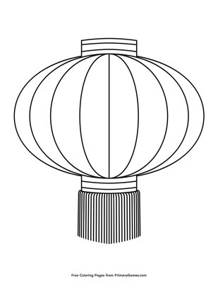 Chinese Lantern Coloring Page Free Printable Pdf From Primarygames