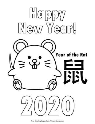 Chinese Zodiac Dragon Coloring Page • FREE Printable eBook ... | 400x309