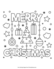 Christmas Coloring Pages  E  A Free Printable Pdf From Primarygames