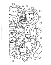 Christmas Coloring Pages • FREE Printable PDF from PrimaryGames