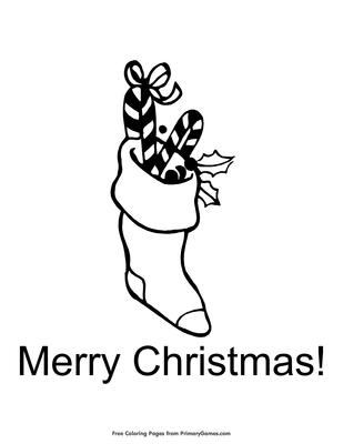Christmas Stocking Coloring Page Printable Christmas Coloring