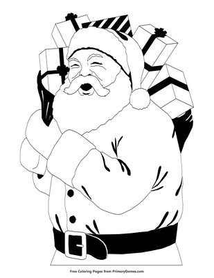It is a picture of Printable Santa Claus for large