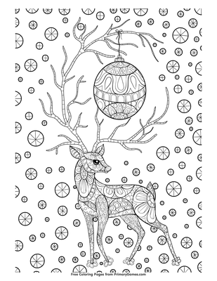 open pdf file zentangle christmas reindeer