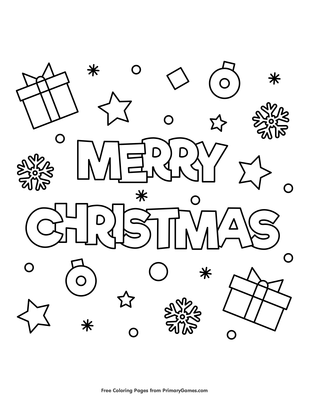 merry christmas coloring page printable christmas coloring ebook primarygames