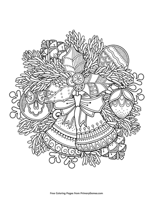 Christmas Bells Coloring Page Free Printable Pdf From Primarygames