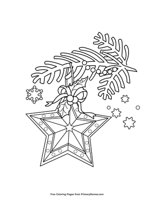 Star Ornament Coloring Page Free Printable Pdf From Primarygames