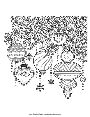 Christmas coloring pages free | The Sun Flower Pages | 400x309