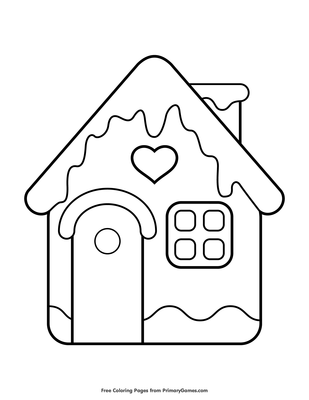 Gingerbread House Coloring Page Printable Christmas Coloring Ebook