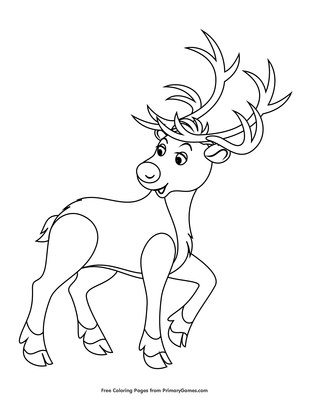 Rudolph The Red Nosed Reindeer Coloring Page Free Printable Pdf From Primarygames