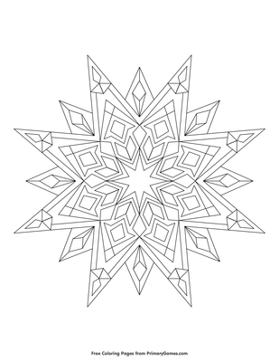 Free Printable Star Coloring Pages For Kids | 400x309