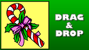 Candy Cane Drag & Drop Puzzle