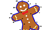 Gingerbread Dot to Dot Puzzle