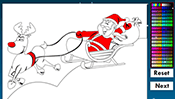 Santa Online Coloring