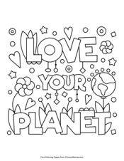 Earth Day Coloring Page | Printable Earth Day Coloring eBook ...