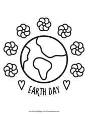 Recycle Symbol Coloring Page Printable Earth Day Coloring eBook