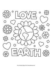 Earth Day Coloring Pages EBook