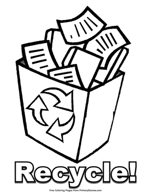Recycling On Earth Day Coloring Page - Free Coloring Pages Online | 400x309