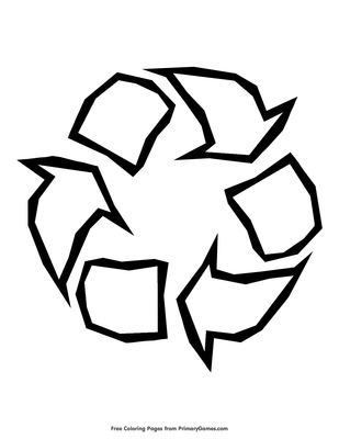 graphic relating to Printable Recycle Symbol called Recycle Logo Coloring Webpage Printable Globe Working day Coloring