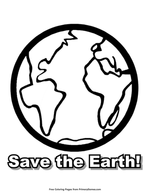 Save The Earth Coloring Page Printable Earth Day Coloring Ebook