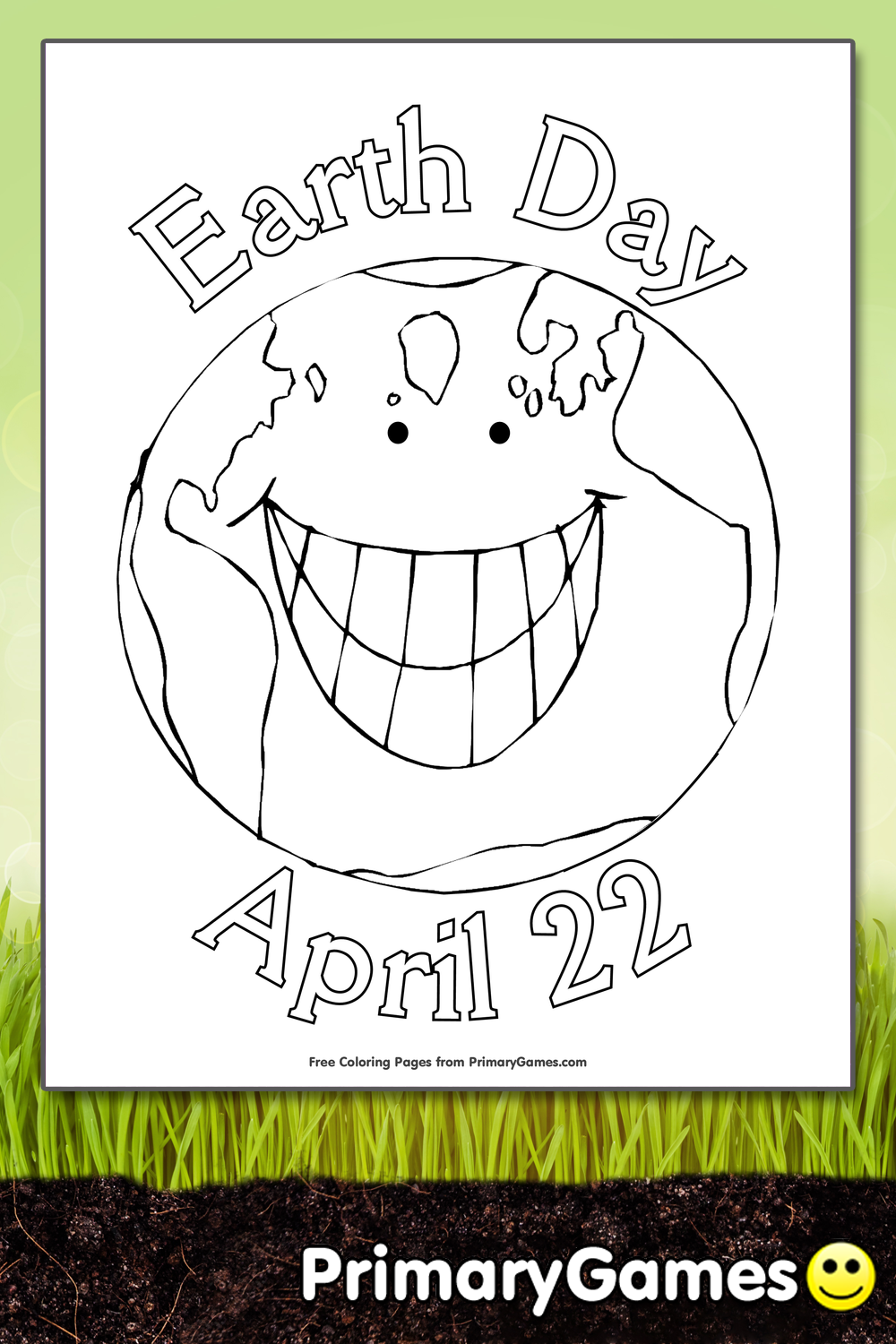 Earth Day Coloring Page Printable Earth Day Coloring eBook