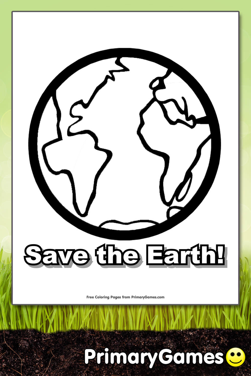 Earth Day Coloring Pages Pdf : Save the earth coloring page printable day