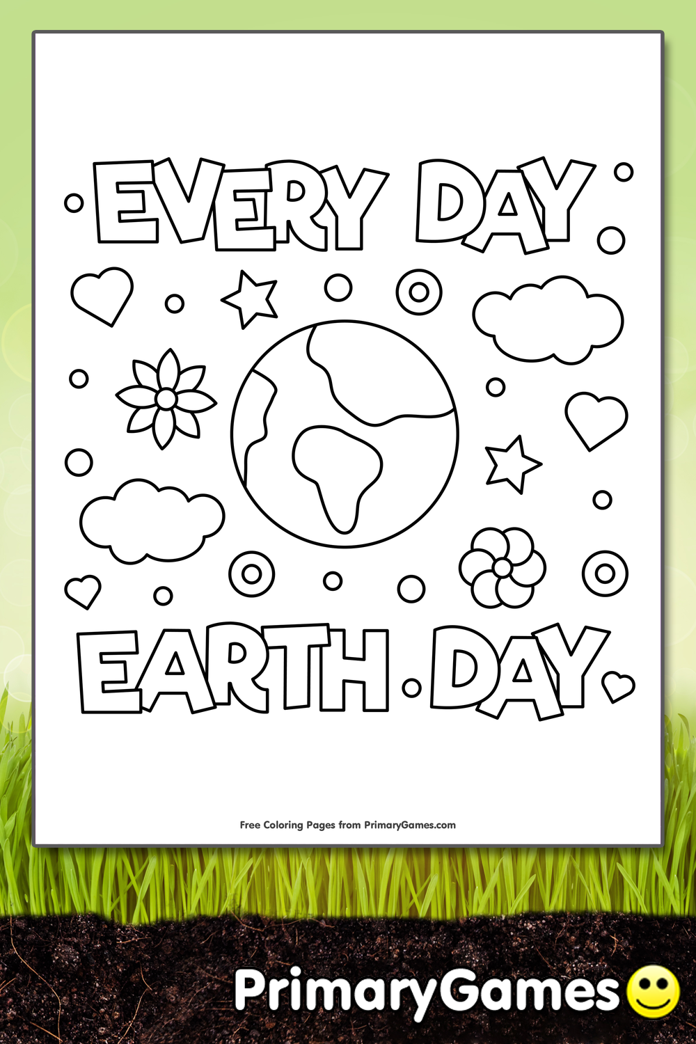 Every Day Earth Day Coloring Page