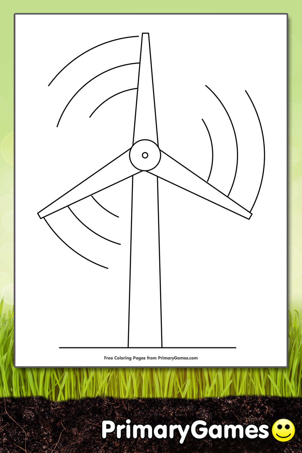 Wind Energy Turbine Coloring Page Printable Earth Day