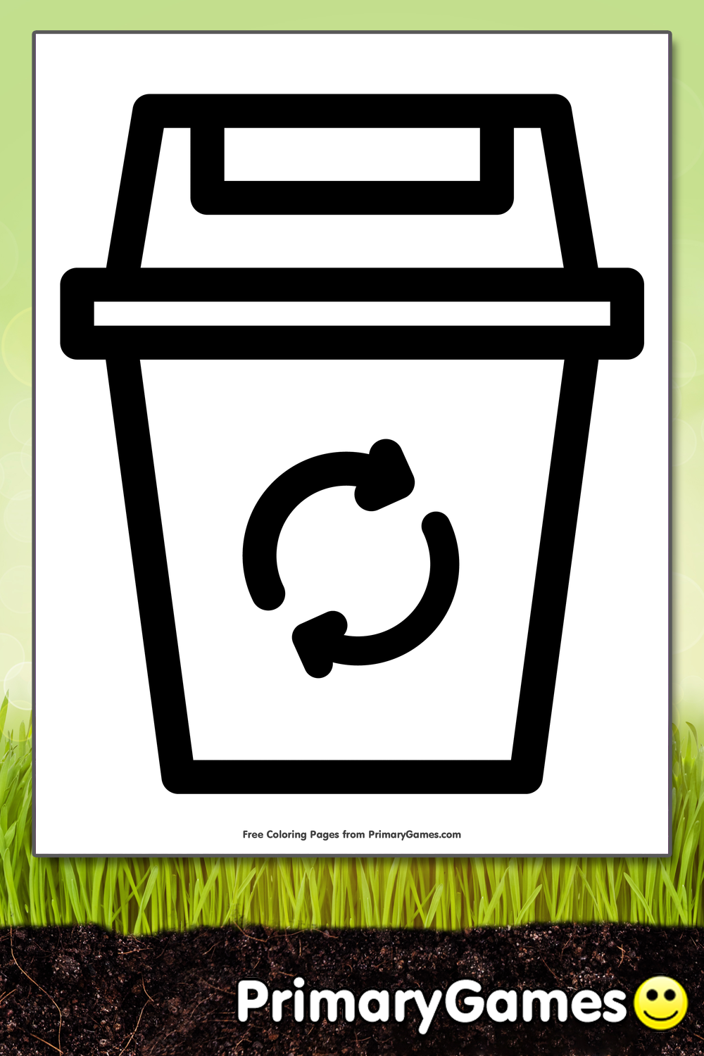 Recycle Bin Coloring Page Free Printable Pdf From Primarygames