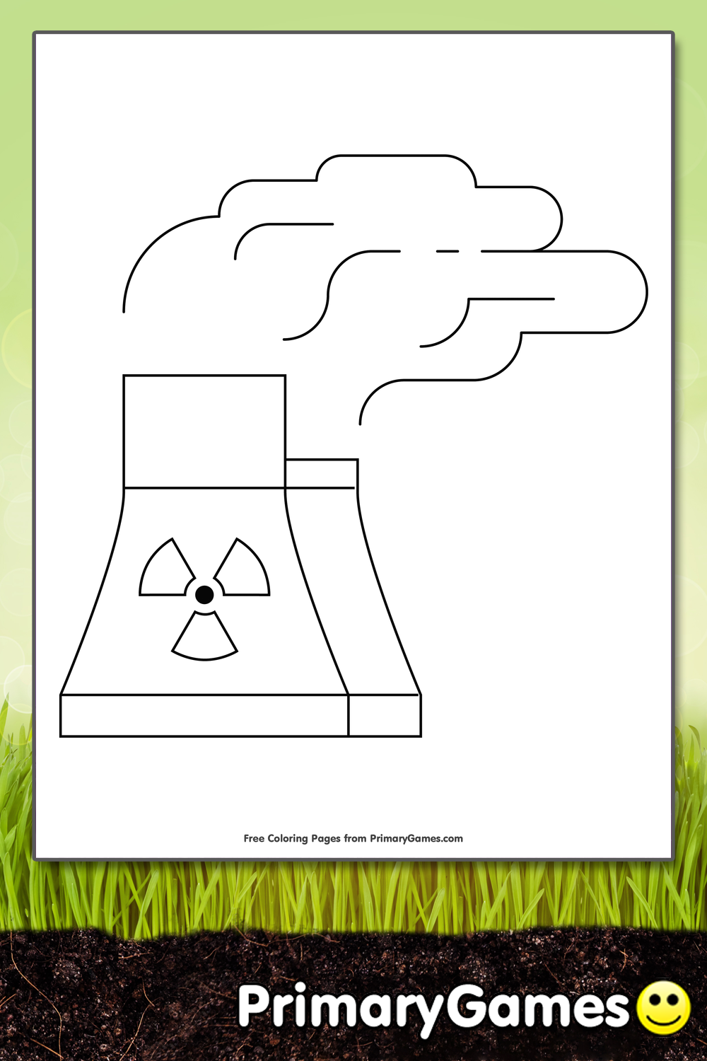 Nuclear Power Plant Coloring Page