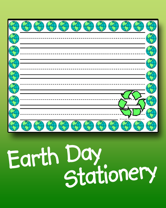 Earth Day Stationery - PrimaryGames - Play Free Online Games